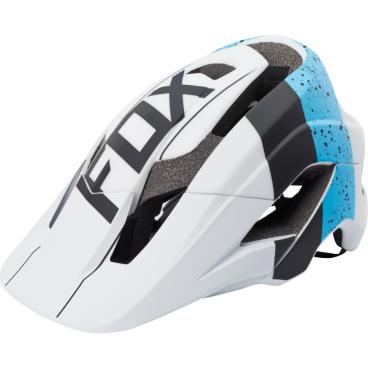 Козырек к шлему Fox Metah Visor, сине-белый, пластик, 17143-025-OS козырек к шлему fox metah visor белый пластик 17143 008 os