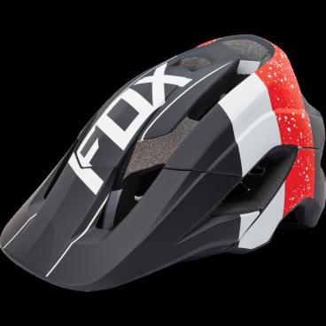 Козырек к шлему Fox Metah Visor, красно-черный, 17143-055-OS козырек к шлему fox metah visor белый пластик 17143 008 os