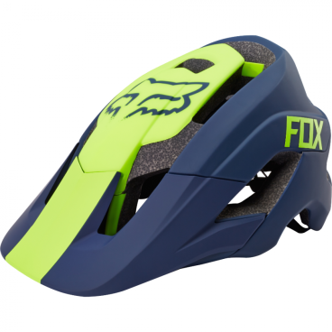 Козырек к шлему Fox Metah Visor Navy, сине-желтый, пластик, 17143-007-OS козырек к шлему fox metah visor белый пластик 17143 008 os