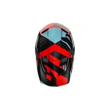 Козырек к шлему Fox Rampage Pro Carbon Visor Aqua, черно-красный, пластик, 04119-246-OS