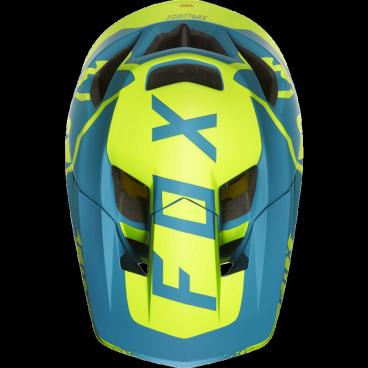Козырек к шлему Fox Proframe Moth Visor Teal, сине-желтый, пластик, 20305-176-OSВелошлемы<br>Оригинальный козырёк для шлема Proframe Moth. Изготовлен из ударопрочного пластика.<br>