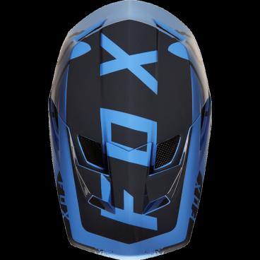 Козырек к шлему Fox Rampage Pro Carbon Moth Visor, сине-черный, пластик, 20300-023-OSВелошлемы<br>Оригинальный козырёк для шлема Rampage Pro Carbon Moth. Изготовлен из ударопрочного пластика.<br>