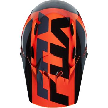 Козырек к шлему Fox Rampage Helmet Visor, оранжевый, пластик, 17763-009-OS козырек к шлему fox metah visor белый пластик 17143 008 os
