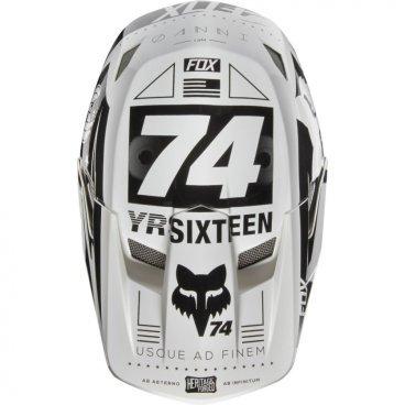 Козырек к шлему Fox Rampage Comp Visor, белый, пластик, 17762-008-OS козырек к шлему fox metah visor белый пластик 17143 008 os