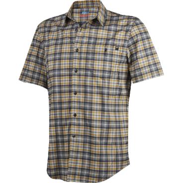 Велорубашка Fox Rivet SS, черныйВелофутболка<br>Оригинальное джерси от Fox, выполненное в виде классической клетчатой рубашки с коротким рукавом. Как бы то ни было, при этом данная модель остаётся максимально удобной и функциональной – она изготовлена из эластичного текстиля, который быстро сохнет и хорошо отводит влагу от тела.<br><br>ОСОБЕННОСТИ<br><br>Материал: полиэстер<br><br>Оригинальный дизайн<br><br>Нагрудный карман с застёжкой на пуговице<br><br>Лоскут для протирки очков на внутреннем шве<br><br>Светоотражающий принт в виде логотипа бренда на рукаве<br>