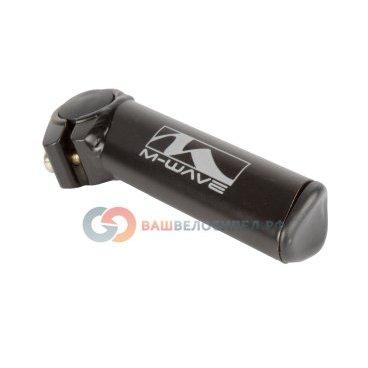 Рога для велосипеда M-Wave алюминиевые прямые короткие черные сварные 5-408113
