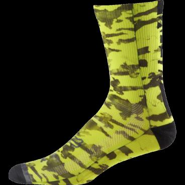 Носки Fox Creo Trail 8-inch Sock, желтые inov 8 носки all terrain sock mid l white