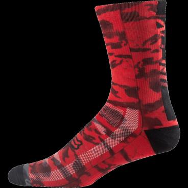 """Носки Fox Creo Trail 8-inch Sock, красныйВелоноски<br>Высокие носки от Fox, выполненные из быстросохнущего синтетического материала, который хорошо отводит влагу от кожи. Вставки из эластичной сетчатой ткани и сглаженные швы обеспечивают дополнительный комфорт. Эти носки – одни из самых удобных, и они отлично подойдут как для катания на велосипеде, так и для любой другой активности.<br><br><br><br>ОСОБЕННОСТИ<br><br><br><br>Высокие (8"""") носки от Fox<br><br>Материал: полипропилен<br><br>Вставки из эластичной сетчатой ткани в критических местах<br><br>Сглаженные швы<br>"""