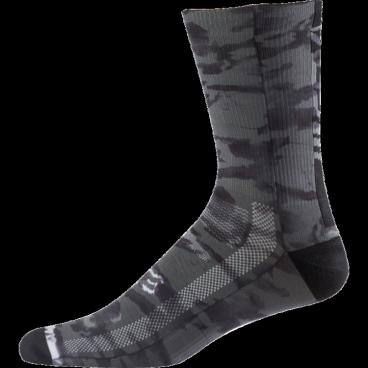 """Носки Fox Creo Trail 8-inch Sock, черныйВелоноски<br>Высокие носки от Fox, выполненные из быстросохнущего синтетического материала, который хорошо отводит влагу от кожи. Вставки из эластичной сетчатой ткани и сглаженные швы обеспечивают дополнительный комфорт. Эти носки – одни из самых удобных, и они отлично подойдут как для катания на велосипеде, так и для любой другой активности.<br><br><br><br>ОСОБЕННОСТИ<br><br><br><br>Высокие (8"""") носки от Fox<br><br>Материал: полипропилен<br><br>Вставки из эластичной сетчатой ткани в критических местах<br><br>Сглаженные швы<br>"""