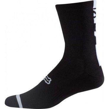 """Носки Fox Logo Trail 8-inch Sock, черныйВелоноски<br>Высокие носки от Fox, выполненные из быстросохнущего синтетического материала, который хорошо отводит влагу от кожи. Вставки из эластичной сетчатой ткани и сглаженные швы обеспечивают дополнительный комфорт. Эти носки – одни из самых удобных, и они отлично подойдут как для катания на велосипеде, так и для любой другой активности.<br><br><br><br>ОСОБЕННОСТИ<br><br><br><br>Высокие (8"""") носки от Fox<br><br>Материал: полипропилен<br><br>Вставки из эластичной сетчатой ткани в критических местах<br><br>Сглаженные швы<br>"""