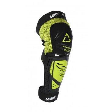 Наколенники Leatt 3DF Knee & Shin Guard Hybrid EXT, черно-желтый от vamvelosiped.ru