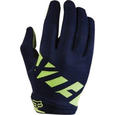 Велоперчатки женские Fox Ripley Womens Glove, сине-желтый (2017)Велоперчатки<br>Лёгкие и очень удобные перчатки, созданные специально для женских рук. Верх модели выполнен из  плотного эластичного текстиля, а ладонь отделана двойным слоем искусственной кожи Clarino. <br><br>ОСОБЕННОСТИ<br><br>Материал: текстиль, искусственная кожа<br>Силиконовые накладки на кончиках пальцев для лучшего сцепления<br>Большой палец отделан микрофиброй<br>Удобная компактная застёжка<br><br>Длина ладони<br>Размер: S (170-176 мм)<br>Размер: M (176-182 мм)<br>Размер: L (182-188 мм)<br>Размер: XL (188-194 мм)<br>