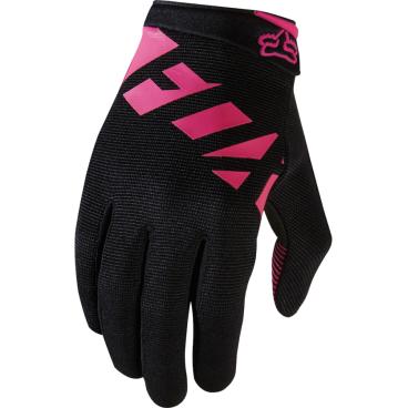 Велоперчатки женские Fox Ripley Womens Glove, черно-розовый (2017)Велоперчатки<br>Велоперчатки женские Fox Ripley Womens Glove - это суперкомфортная женская модель для езды на горном велосипеде.<br> <br>ОСОБЕННОСТИ<br>Минимальный дизайн для большего комфорта<br>4-way стретч материал<br>Впитывающая ладонь<br>Стретч сетчатый материла между пальцев<br>Компрессионная манжета с липучки<br>Силиконовые элементы на ладони<br>Гелевые подушечки<br><br>ХАРАКТЕРИСТИКИ<br>Бренд:    FOX<br><br>Пол:    Для женщин<br>Возраст:    Для взрослых<br>Материал:    79 % Нейлон; 14 % Полиуретан; 5 % Полиэстер; 2 % ПВХ<br>Ладонь:    Полиэстер<br><br>Длина ладони<br>Размер: S (170-176 мм)<br>Размер: M (176-182 мм)<br>Размер: L (182-188 мм)<br>Размер: XL (188-194 мм)<br>