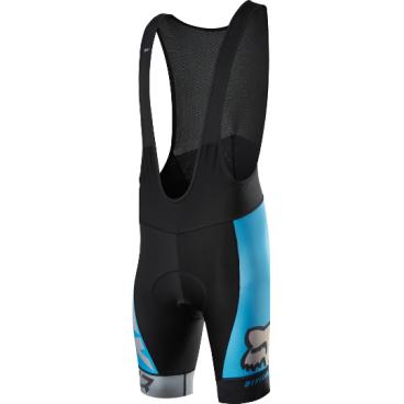 Велотрусы с лямками Fox Ascent Pro Bib, черно-синий, полиэстерВелошорты<br>Классические велошорты с лямками, выполненные из высококачественной эластичной ткани итальянского производства. Основные особенности данной модели – слегка удлинённый крой для лучшей защиты ног, а также мягкие вставки и накладки из устойчивого к истиранию материала в критических местах. <br><br>ОСОБЕННОСТИ:    <br><br>    Материал: полиэстер <br>    Мягкие вставки и накладки из устойчивого к истиранию материала в критических местах <br>    Слегка удлинённый крой для лучшей защиты ног<br>