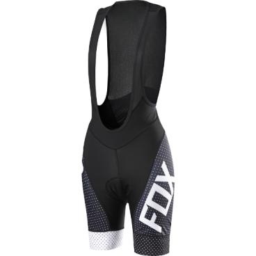 Велотрусы женские с лямками Fox Switchback Comp Womens Bib, черно-серые, полиэстер, арт: 29774 - Велошорты