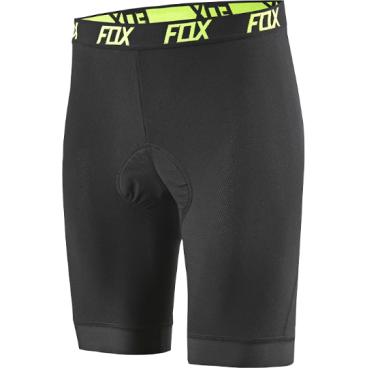 Велотрусы Fox Evolution Comp Liner Short, черный, полиэстер/спандекс