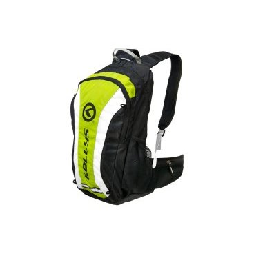 Велосипедный рюкзак KELLYS EXPLORE, объем 20 л, влагостойкий полиэстер, молния YKK, черный/зеленый