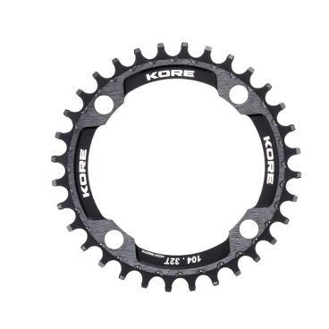 Звезда Kore Narrow Wide Front Chain Ring, 30T, черный, KCRFNW0130BAT fouriers mtb mountain bike single chain ring narrow wide teeth chainrings crank with bolt bcd 104mm ti coating chainwheel