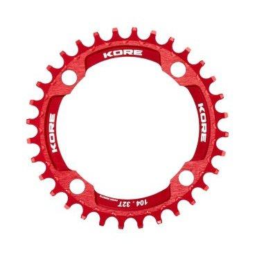 Звезда Kore Narrow Wide Front Chain Ring, 32T, красный, KCRFNW0132RAT