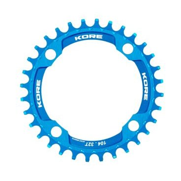 Звезда Kore Narrow Wide Front Chain Ring, 34T, синий, KCRFNW0134LAT