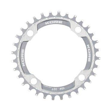 Звезда Kore Narrow Wide Front Chain Ring, 34T, серебристый, KCRFNW0134SAT