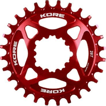 Звезда Kore Narrow Wide Front Chain Ring SRAM, 32T, красный, KCRFNW0232RAT
