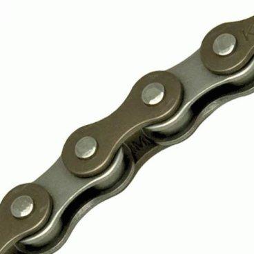 Цепь KMC Z610HX, 1 скорость, 1/8, 112 links, коричнево-серебристый, BXZ61HX2