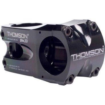 Вынос Thomson Elite X4, 50x0*x31.8 мм, шток 1-1/8, алюминий, черный, SM-E130-BKВыносы<br>Thomson Elite X4 это абсолютно лучшая комбинация надёжной конструкции и низкого веса, которую только можно найти! Этот вынос прекрасно держится в таких дисциплинах, как фрирайд или даунхил, а это уже говорит о многом. Низкий вес выноса позволяет также использовать его в дисциплинах байкер-кросса или КК. С этим выносом велоспед становится очень отзывчивым, а процесс руления невероятно-точным. При разработке этого выноса у команды Thomson стояла трудная задача: сделать вынос ещё лучше, чем известная модель Elite 25.4. Основная проблема была в весовой категории, поскольку все аналоги заведомо тяжелее, чем 25.4. Разработка велась до тех пор, пока конструкция не показала себя достаточно прочной и лёгкой, как и было задумано изначально. С этим выносом становятся очевидными преимущества более жёстких вилок и рулей 31.8. X4 великолепно управляется, отзывается на каждое двиижение райдера и чётко задаёт направление движения. Всё это дополнено непревзойдённым и элегантным внешним исполнением. Данный вынос предназначен для горных велосипедов класса хай-энд.<br><br>ОСОБЕННОСТИ<br><br>    Thomson X4 прочнее и на 30 грамм легче легендарного выноса Elite 25.4. Традиционное рулевое крепление с геометрией, специально разработанной для снижения веса.<br>    Выносы Thomson самые выносливые и надёжные в индустрии, это даёт гарантию уверенности райдерам в стилях фрирайд и даунхил.<br>    Машинная точность исполнения из алюминия 7000 серии.<br>    Создано с точностью по стандартам запчастей для аэрокосмических нужд.<br>    Лучший универсальный вынос all-mountain, хорошо подходит для байкер-кросса.<br><br> <br><br>ТЕХНИЧЕСКИЕ ХАРАКТЕРИСТИКИ<br><br>    Материал: Фрезерованный алюминий 7000 серии<br>    Назначение: даунхил, фрирайд, байкер-кросс, кросс-кантри<br>    Диаметр руля: 31.8 мм<br>    Крепление на шток: 28.6 мм<br>    Длина выноса: 50 мм<br>    Угол наклона: 0 градусов<br>    Вес: 163 г<br>    