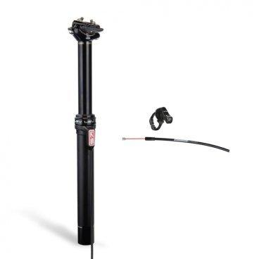 Подседельный штырь KS Lev Black, регулируемый, 31.6x385 мм, ход 125 мм, черный, LEV316-125-385Штыри подседельные<br>Самый функциональный и надёжный регулируемый подседельный штырь теперь стал ещё легче. Lev Black весит на 50 граммов меньше стандартной модели благодаря карбоновому зажиму рамок седла, облегчённой манетке и кабелю. В остальном, это всё тот же Lev, основные преимущества которого – плавный ход штока, стильный внешний вид и нулевое перемещение тросика при наличии пневматической пружины и гидравлической блокировки.<br><br>ОСОБЕННОСТИ<br><br>Материал: алюминиевый сплав/карбон<br>Размер: 31.6x385 мм<br>Ход: 125 мм<br>Управляется при помощи эргономичной карбоновой манетки на руле<br>Цвет: чёрный<br>