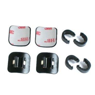 Крепление рубашки Jagwire Alloy Stick On Cable Guide, черный, 4 шт, DCA056