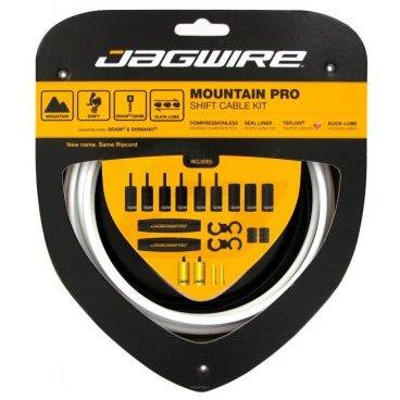 Набор рубашек и тросиков переключения Jagwire Universal Pro Shift Kit, белый, PCK303 тросы для переключения jagwire mountain pro shift комплект для мтв mck213
