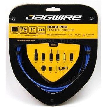 Набор рубашек и тросиков тормоза Jagwire Road Pro Brake Kit, синий, PCK205 тросы для переключения jagwire mountain pro shift комплект для мтв mck213