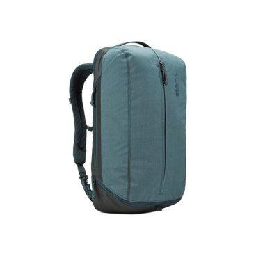 Рюкзак городской Thule Vea Backpack, 17L, темно-зеленый (Deep Teal), 3203508Велорюкзаки<br>Thule Vea Backpack 17L<br>Стильный рюкзак предназначен для перемещения между офисом и тренажерным залом, позволяя хранить вещи для занятий спортом и работы отдельно друг от друга.<br><br>Особенности<br><br>- Специальные накладные карманы с мягкой подкладкой для защиты MacBook® с диагональю экрана 15 дюймов и планшета с диагональю экрана 10 дюймов <br>- Храните все необходимые для работы вещи в специальном отделении, предназначенном для ноутбуков, планшетов, файлов, ручек, паспортов, USB-накопителей, небольших шнуров и аксессуаров <br>- Во внешнем потайном кармане удобно хранить телефон или легкий перекус <br>- Просторное главное отделение имеет удобную застежку на молнии по типу спортивной сумки, благодаря чему вы можете легко класть туда все необходимое и так же легко его доставать <br>- В растягивающемся внутреннем кармане можно хранить обувь или грязную одежду <br>- Внутренние сетчатые карманы предназначены для хранения вещей, необходимых при походе в спортзал: от замка, ключей и карты доступа до расчески и туалетных принадлежностей <br>- Светоотражающие элементы на передней части сумки и наплечных ремнях обеспечат безопасность на дороге <br>- Наплечные ремни рюкзака фиксируются с помощью регулируемого нагрудного ремня <br>- Наплечные ремни с мягкой подкладкой и задняя панель с вентиляционным каналом обеспечивают комфорт при ношении рюкзака <br>- Быстрый и удобный доступ к содержимому благодаря надежным молниям YKK с язычками с надписью Thule и фурнитурой Duraflex <br><br>Технические характеристики<br><br>Размеры    30 x 23 x 46 см<br>Отсек для ноутбука — размеры    35.9 x 24.7 x 1.8 см<br>Вес    0.74 kg<br>Объем    17 l<br><br>Материал    Полиэстеровая смесь, нейлон 800 ден<br>