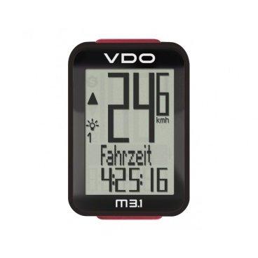 Велокомпьютер VDO M3.1, 16 функций, проводной, черный, 4-30030