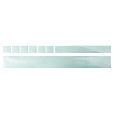 Защита перьев рамы M-WAVE, наклейки,1*500x55мм+1*35x260мм+6*35x35мм, прозрачная фольга, 5-303351