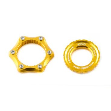 Адаптер A2Z, Center Lock - 6 болтов, замок 15/20мм, золотистый, AD-CLK 15 -6 звездочка для редуктор z 15 в воронеже