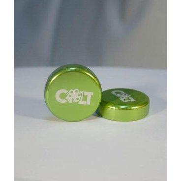 Заглушки руля Colt Lock, пара, темно-зеленый, HY-ALC-105-11Ручки и Рога<br>Разноцветные алюминиевые заглушки на руль с замком, совместимы с грипсами СOLT.<br>