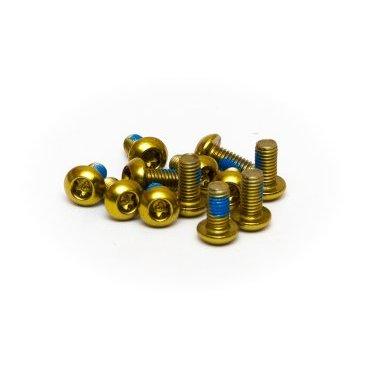 Болты крепления тормозного диска A2Z, Crews ED, 12 штук, золотистый, Star-12-6