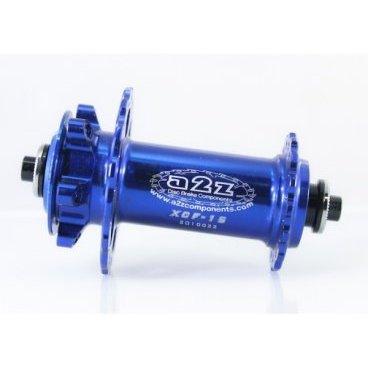 Втулка передняя дисковая A2Z XCF, QR/15 мм, 32H, синий, XCF-15-4 втулка задняя joy tech d142tse 32h ось м10х145х135мм под диск алюминий d142tse 32h
