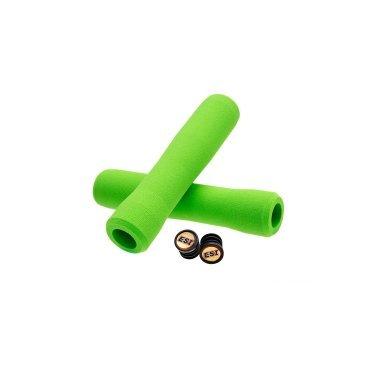 Купить со скидкой Грипсы ESI Fit CR, 130 мм, силикон, зеленый, FTCGN