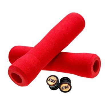 Грипсы ESI Fit XC, 130 мм, силикон, красный, FTXRD