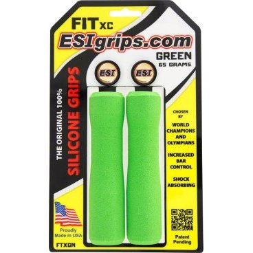 Грипсы ESI Fit XC, 130 мм, силикон, зеленый, FTXGN