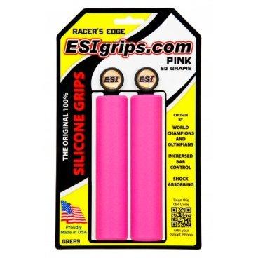 Грипсы ESI Racer's Edge, 130 мм, силикон, розовый, GREP9 аудиоинтерфейс esi u168 xt
