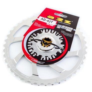 Звезда задняя A2Z для кассеты Shimano 10 скоростной, 42T, алюминий, серебристый, AD-42T-2 fouriers cr dx004 cnc single chain ring bike bicycle chainrings sprocket 40t 42t for 10s shimano b c d 104mm
