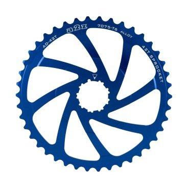 Звезда задняя A2Z для кассеты Shimano 10 скоростной, 42T, алюминий, синий, AD-42T-4 fouriers cr dx004 cnc single chain ring bike bicycle chainrings sprocket 40t 42t for 10s shimano b c d 104mm