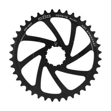 Звезда задняя A2Z для кассеты Shimano 10 скоростной, 42T, алюминий, черный, AD-42T-1 fouriers cr dx004 cnc single chain ring bike bicycle chainrings sprocket 40t 42t for 10s shimano b c d 104mm