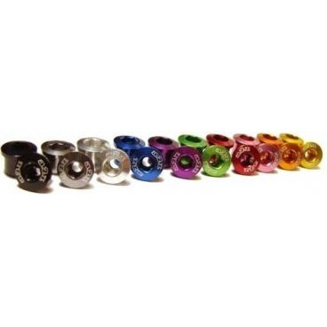 Набор бонок A2Z, 8шт (бонки 4 штуки, болта 4 штуки), алюминий 7075-T6, серый, CB-4-7Системы<br>Набор бонок A2Z, 8шт (бонки 4шт., болта 4шт.), 7075-T6, оранжевый<br>