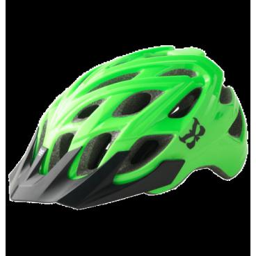 Велошлем KALI Chakra Logo Hi-Viz, зеленый