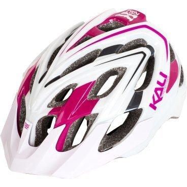 Велошлем KALI Chakra Plus Helmet Sonic, бело-розовый