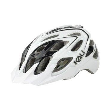 Велошлем KALI Chakra Plus Sonic, бело-черный